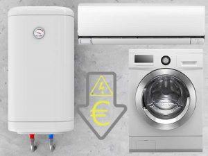 elektrické spotrebiče v dome a domácnosti